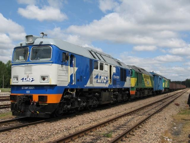 Nagrodzona zmodernizowana lokomotywa spalinowa ST44 BF (typu ST44 3000).